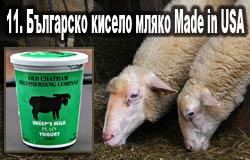 11. Българско кисело мляко Made in USA