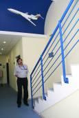 В коридора на Центъра за авиационна подготовка. Снимка: Нели Томова