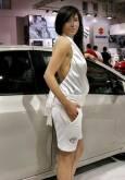 """Момичетата на """"Тойота"""" са с оригинални одежди с емблемата на фирмата. Снимки: Иван Бакалов"""