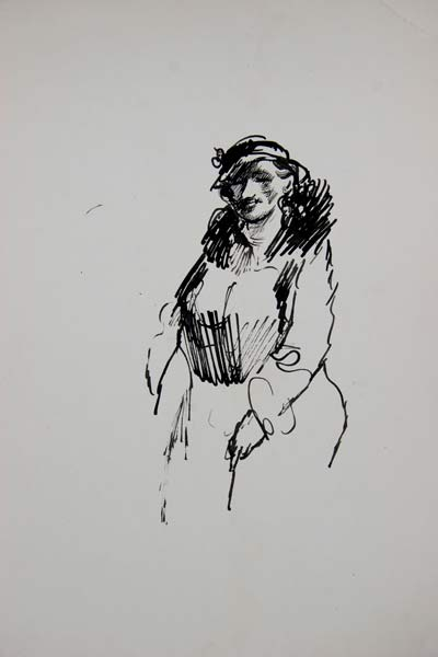 Илия Бешков, рисунка. Репродукция от частна колекция
