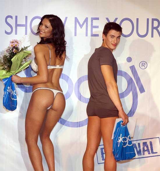 Победителите в конкурса за най-красиво дупе Биляна Йотовска и Мартин Медникаров. Снимка: Булфото