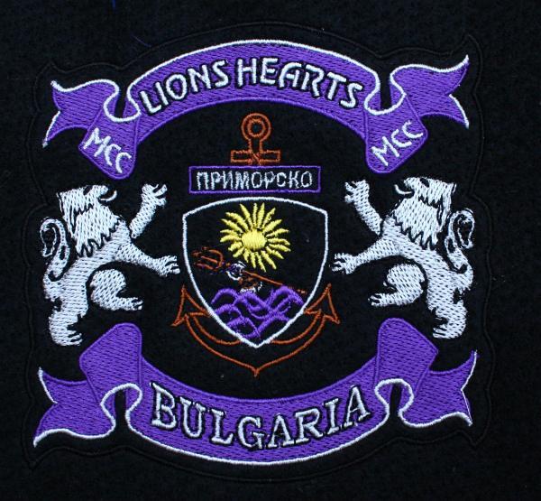 Емблемата на мотоклуба, в който членува Николай. Снимки: авторката