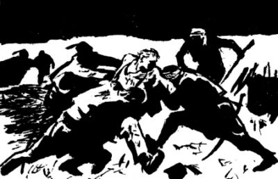 Залавянето на Левски. Худ. Борис Ангелушев (1963)
