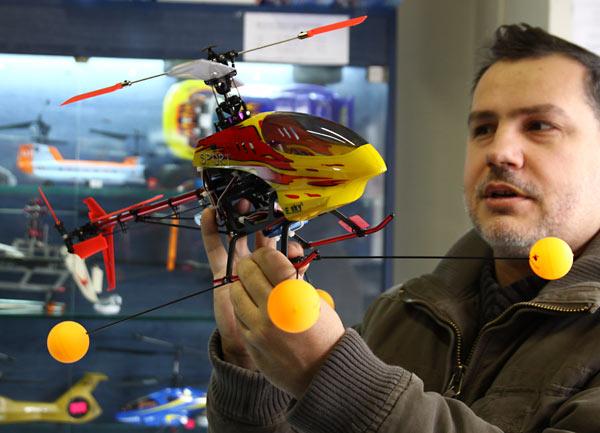 Хеликоптер E-Sky с проходилка. Снимки: Нели Томова