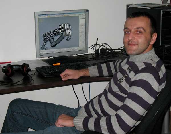 Георги Петров, 3D дизайнер. Снимка: авторката