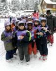 След първото ски състезание. Снимка: авторката