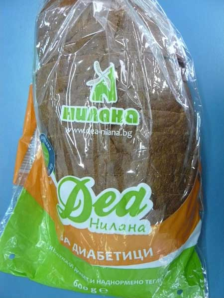 """""""Нилана Деа"""" за диабетици при изследването се оказва с най-високо съдържание на захар от всичките 12 хлебчета. Снимка: """"Активни потребители"""""""