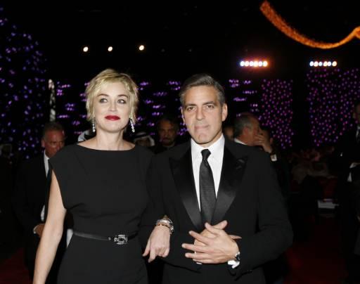 Шарън Стоун и Джордж Клуни пристигат на откриването на фестивала. Снимка: Ройтерс