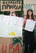 Протестиращи природозащитници.