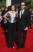 Тони Шалуб от сериала Монк заедно със съпругата си Брук. Снимка: Ройтерс