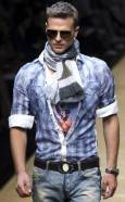 Манекен представя модел от колекцията пролет-лято 2010 на Долче и Габана на Седмицата на модата в Милано. Снимка: Ройтерс
