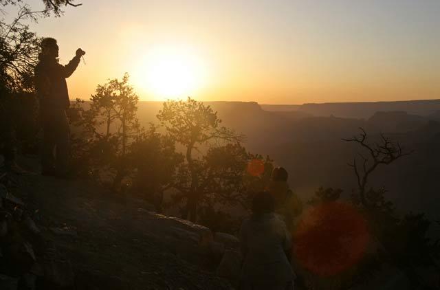 Залез на Гранд Каньон Аризона. Снимка: Иван Бакалов
