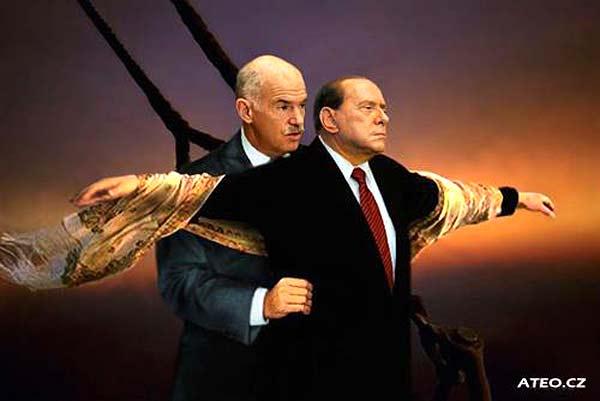 Европа като Титаник, с Папандреу и Берлускони на носа