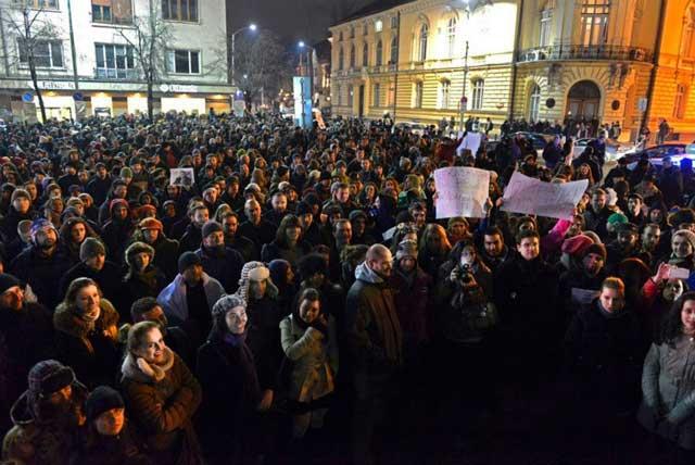 Протестът за Иракли в София