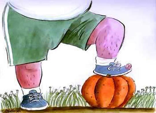 Карикатура, вдъхновена от класацията за футболист на годината