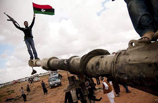 Бунтовници срещу Кадафи