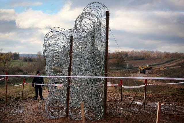 Новата ограда по турската граница