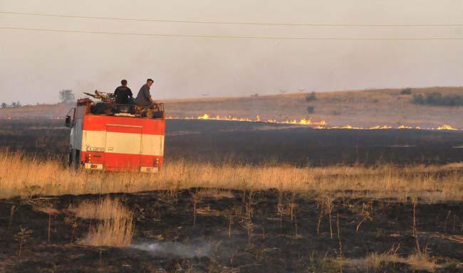 Как се гаси пожар на полето