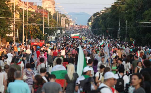 Шествието по бул. Цариградско шосе в неделя