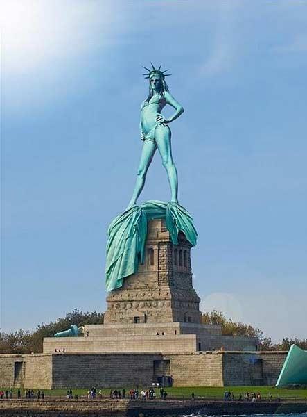 Статуята на свободата съблечена