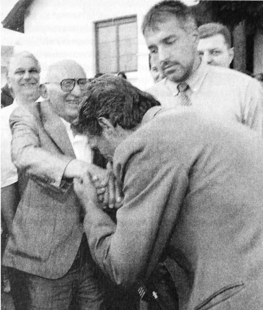 Живков и Борисов в Юндола 1995 г.