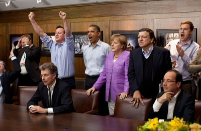 Г-8 гледа финала на Шампионската лига