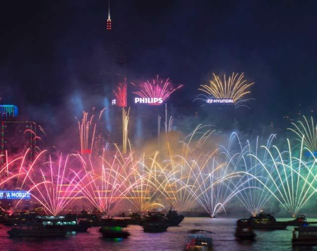 Посрещане на Нова година в Хонконг