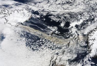 Вулканична пепел над Европа