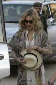 Поп звездата Мадона посети древния град Петра в Йордания след края на световното си турне с два поредни концерта в Израел. Снимка: Ройтерс