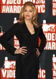 Мадона позира пред камерите на наградите на MTV в Ню Йорк. Снимка: Ройтерс