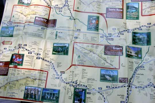 Картата на Ню Мексико с отбивките на Route 66. Снимка: Иван Бакалов