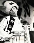 В роля в Сатиричния театър, края на 60-те години. Снимка: Архив на Сатиричния театър