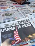"""Индийските вестници в деня след убийството на Осама. Снимки: """"Фейсбук"""", """"Туитър"""" и блогове"""