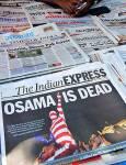 """Индийските вестници за смъртта на Осама. Снимки: """"Фейсбук"""", """"Туитър"""" и блогове"""