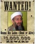 Плакат в стила на Дивия Запад от преди век, за Осама. Реалната награда, която даваше правителството на САЩ, обаче беше 25 млн. долара. И анонимен пакистанец ги получи. Снимки: