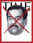 """Корица на сп. """"Тайм"""" от 2003 г. за смъртта на Саддам Хюсеин."""