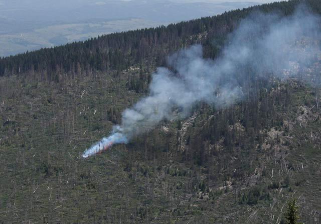 Това е началото на пожара на 1 юли 2012. Снимка: Булфото