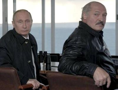Путин и Лукашенко на военен полигон. Снимка: официален сайт