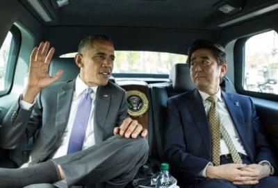 Барак Обама и Шиндзо Абе. Снимка: Белия дом