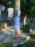 Единствените предизборни плакати в цялото село. Снимки: авторката