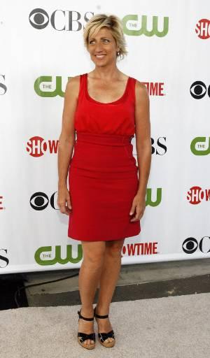 """Актрисата Еди Фалко на партито на """"CBS"""", """"CW"""" и """"Showtime"""" по случай лятното турне на Асоциацията на телевизионните критици в библиотека """"Хънтингтън"""" в Сан Марино, Калифорния. Снимка: Ройтерс"""