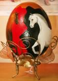 Изрисувано щраусово яйце от музея.