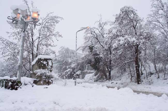 Сняг в Габрово. Снимка: Булфото