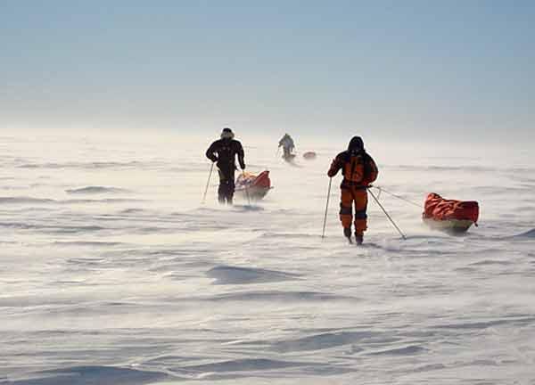 Швейцарката по пътя към Южния полюс. Снимка: личен сайт