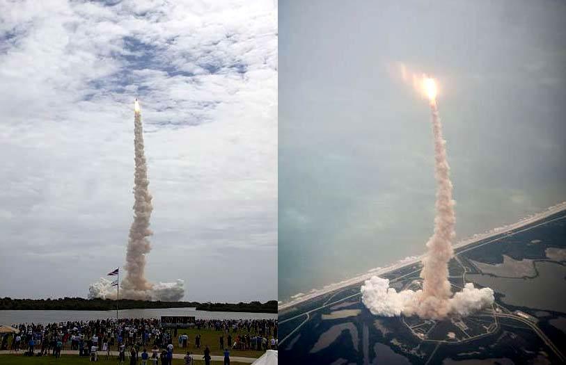 Изстрелването в последен полет на космическа совалка -
