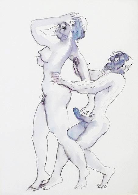 """Непоказвани еротични рисунки на Стоян Венев в софийската галерия """"Нюанс"""", юни 2015 г."""
