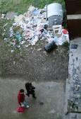 Около контейнерите обикновено има обръч от боклуци, защото отпадъците често се изхвърлят директно през прозореца. Снимки: Нели Томова