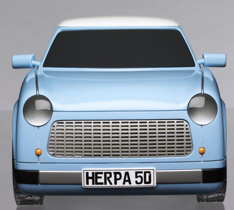Моделът на Трабант в размер 1:10. Снимка: herpa.de