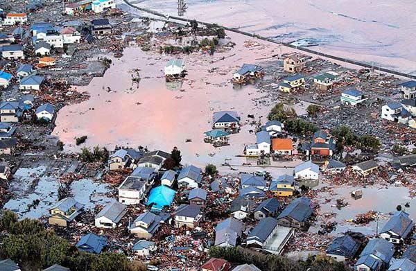 Щетите от цунамито по североизточното
