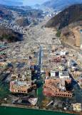 Разрушенията в град Онагава. Снимки: ЕПА/АП/БТА
